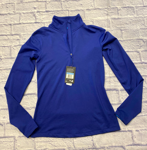Nike training active jacket in royal blue.  Half zip front with striped interior lining.  New with tags.