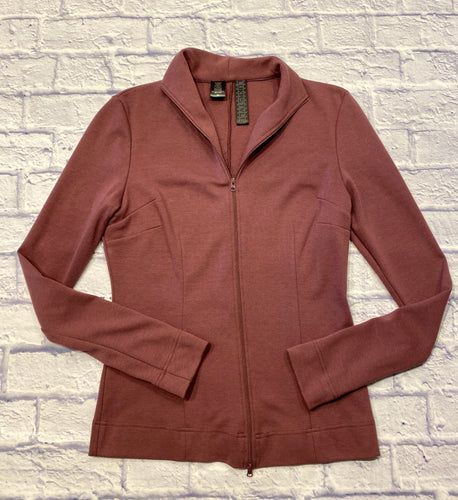 Lukastyle active full zip jacket with tapered fit.  Dark dusty rose with collar.  New without tags.
