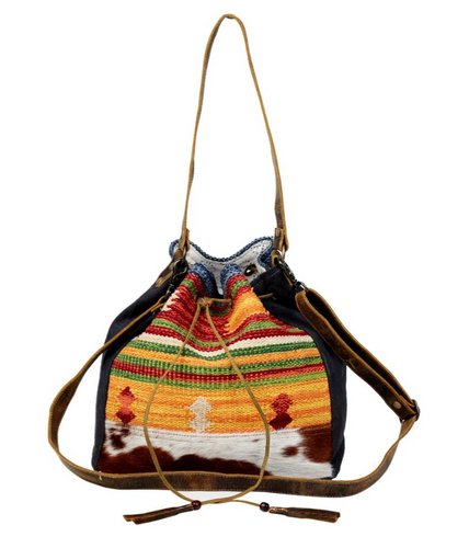 The vibrant yellow shade of this bucket bag epitomizes summertime and is perfect for a beach day. The strength of this bag is reinforced by cowhide leather used at the bottom. 12.5