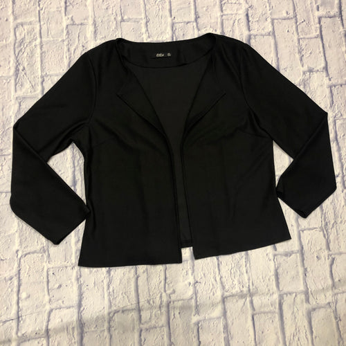 Lily black cropped blazer with no closure.  Soft, super cute!