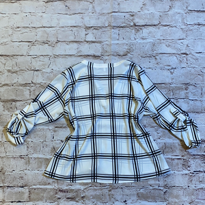 Collective Concepts Plaid Blouse