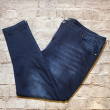 Load image into Gallery viewer, Koko dark wash skinny jeans with faded thigh.