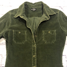 Load image into Gallery viewer, Wet Seal Stretch Corduroy Snap Shirt