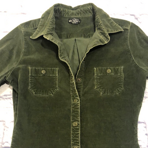 Wet Seal Stretch Corduroy Snap Shirt