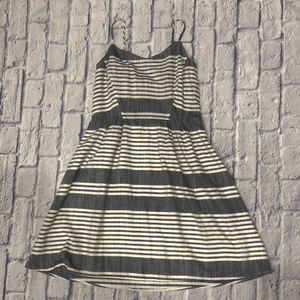 Old Navy grey and white striped cotton sundress with spaghetti straps.  NWT.