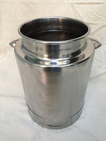 2.5 Gallon Stainless Steel Mini-Milk Bucket - Affordable Milkers LLC  - 1