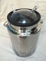 2.5 Gallon Stainless Steel Mini-Milk Bucket - Affordable Milkers LLC  - 3