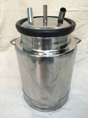 2.5 Gallon Stainless Steel Mini-Milk Bucket - Affordable Milkers LLC  - 2