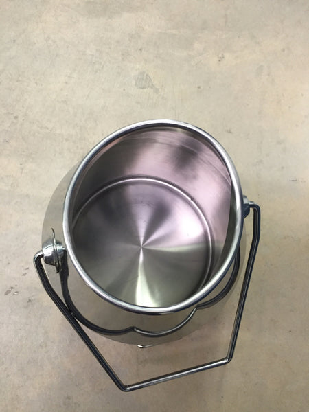 Dented 6 Gallon Stainless Steel Bucket - Affordable Milkers LLC