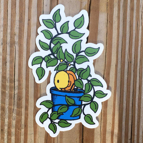 Snail + Plant Sticker