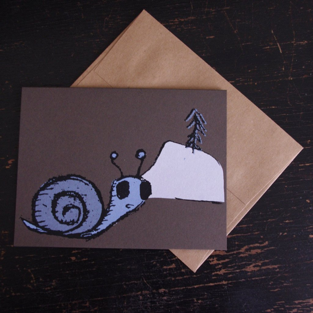 snail holiday greeting card