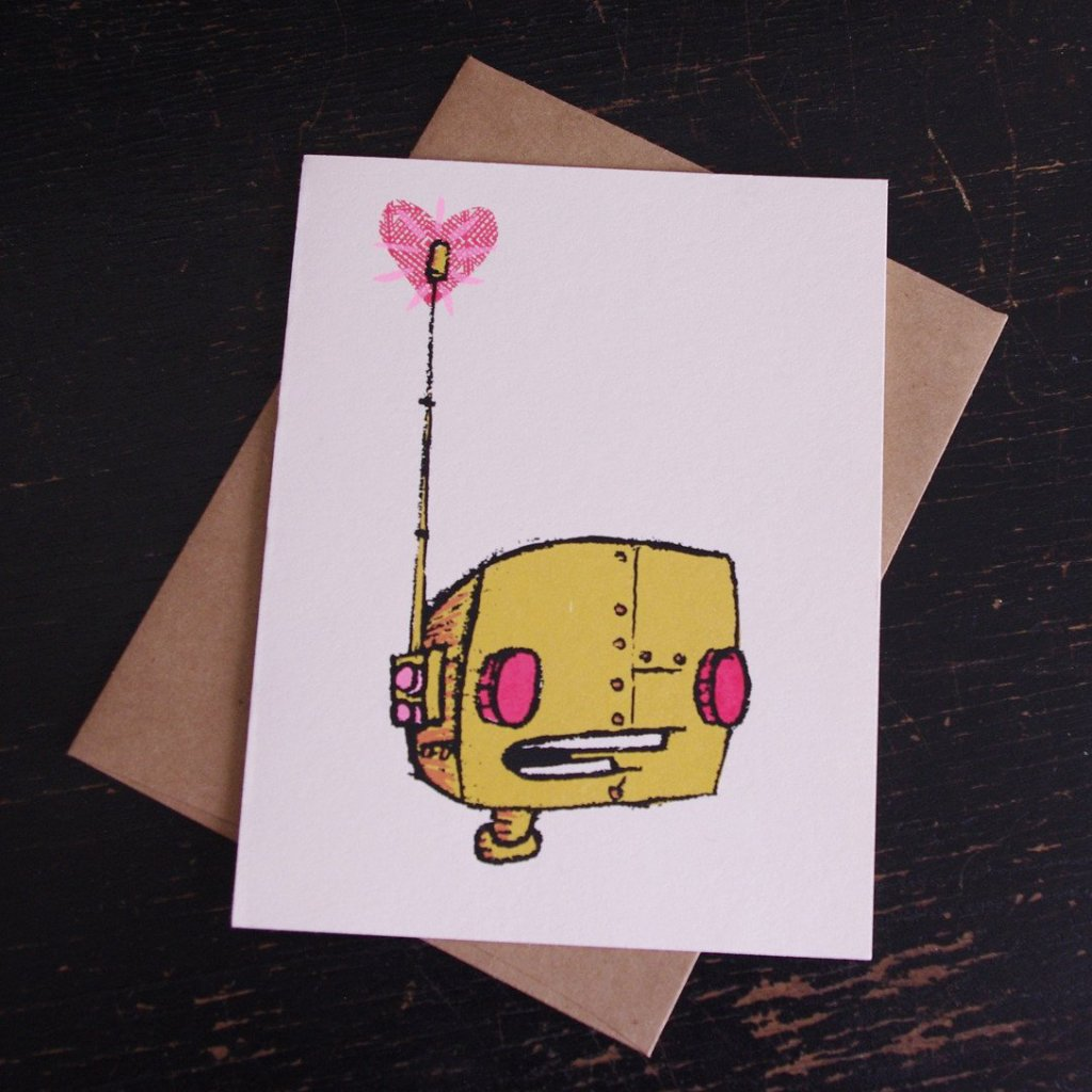 Robot Love Valentine's Card