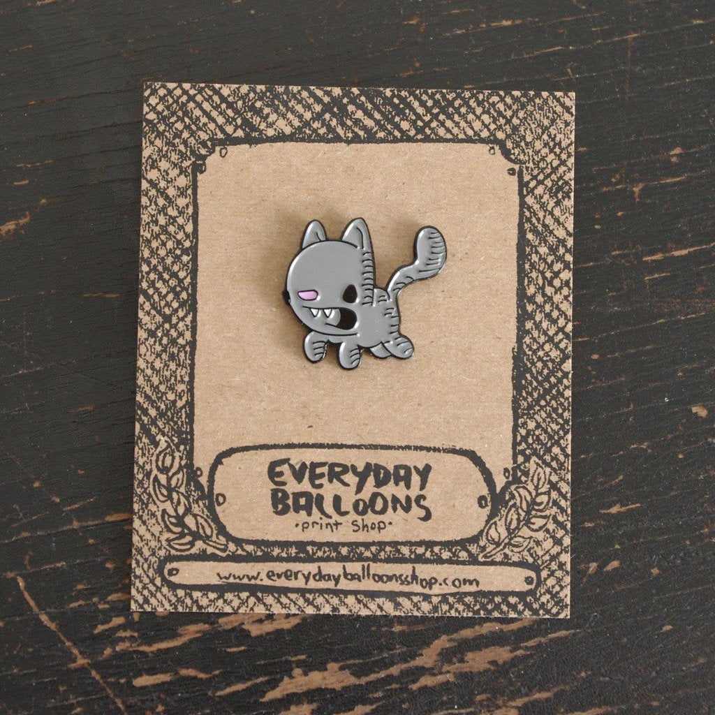 kitty enamel pin