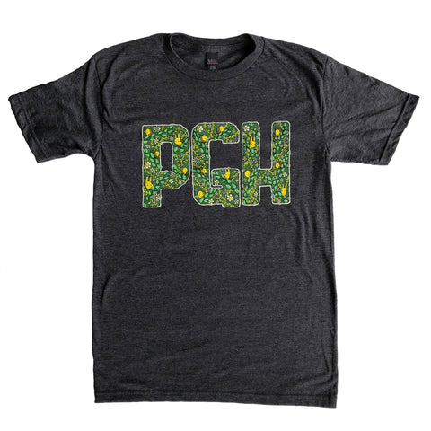 pgh leafy letters t-shirt