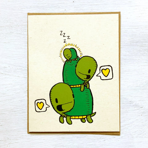 turtles new baby card