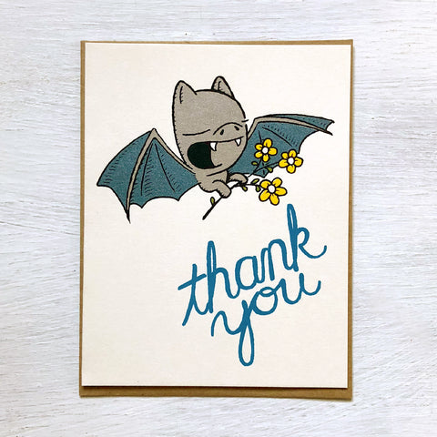 thank you bat card