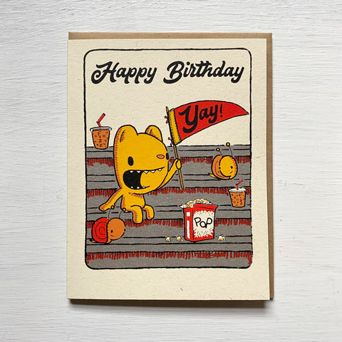 birthday fan card