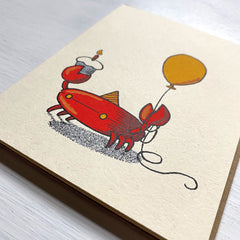 crab birthday card