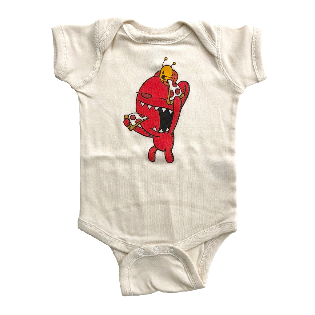 pizza pals one piece bodysuit