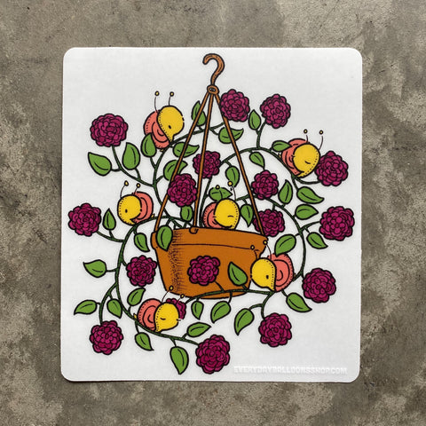 Hanging Basket Clear Sticker
