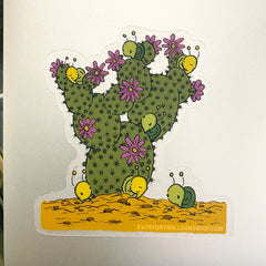 cactus clear sticker