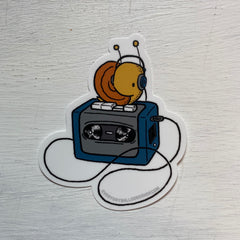 Walkman Snail Sticker