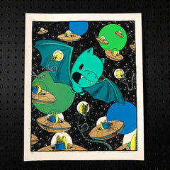 cosmic encounter screen print (16x20)(2nd edition)