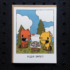 pizza date greeting card