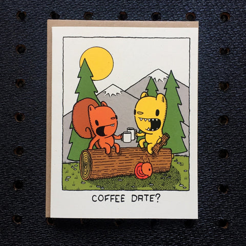 coffee date greeting card