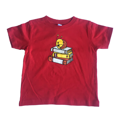 snail with books kids t-shirt