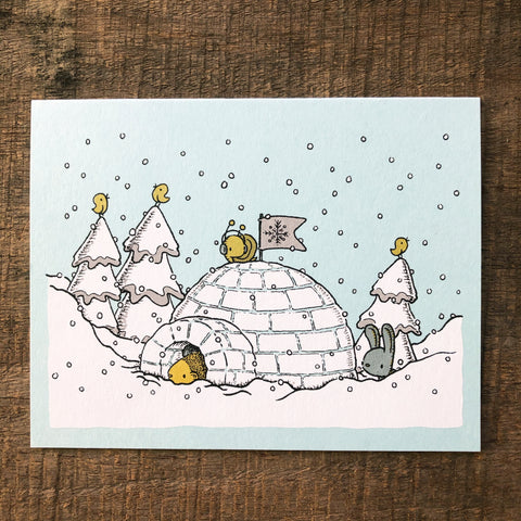 igloo holiday card