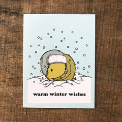 warm winter wishes holiday card (3 options)