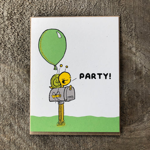 snail mail birthday card