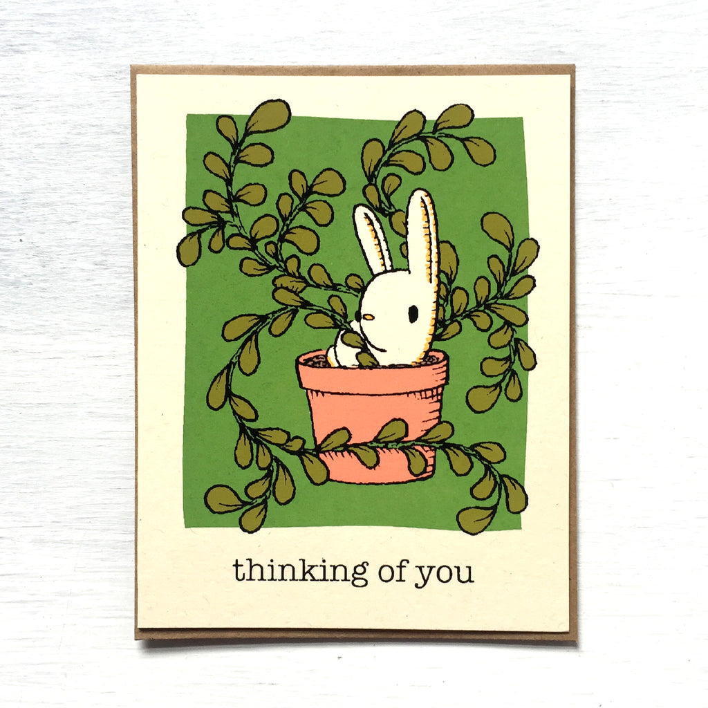 thinking of you bunny card