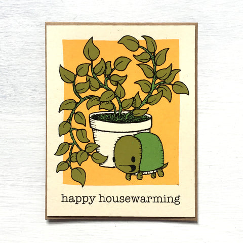 happy housewarming turtle card