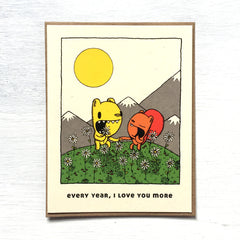 every year, I love you more anniversary card