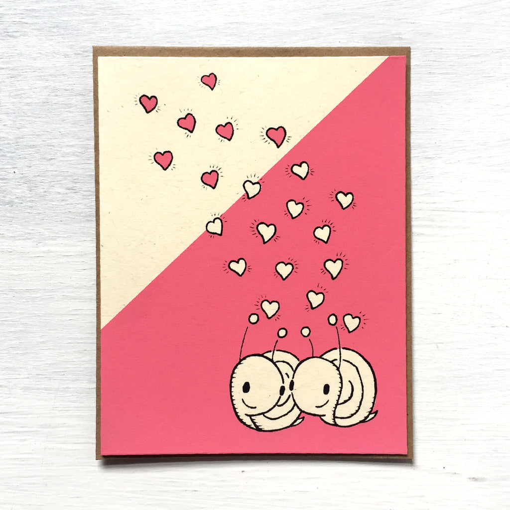snail hearts card