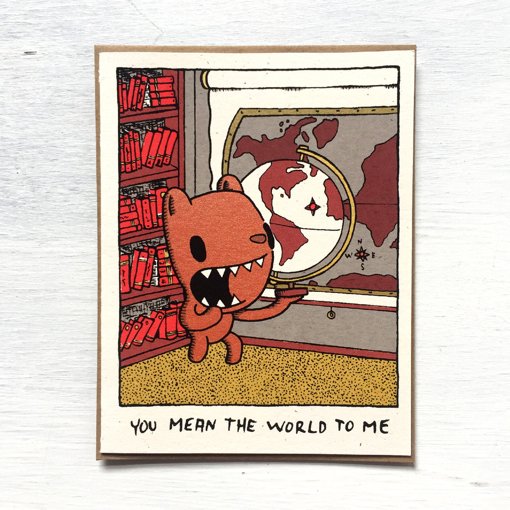you mean the world to me card