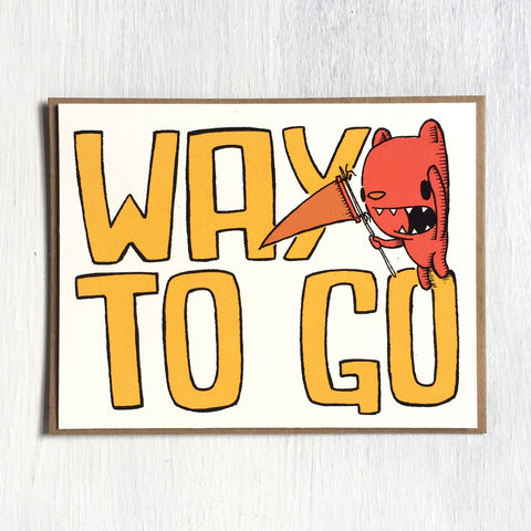 way to go - bear - greeting card