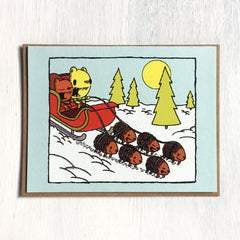 sleigh ride holiday card