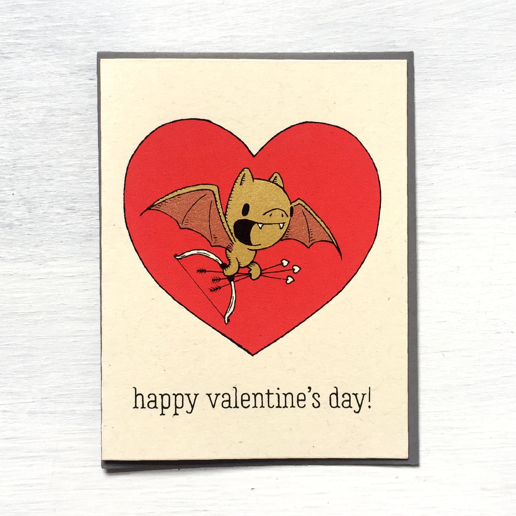 bat valentine card