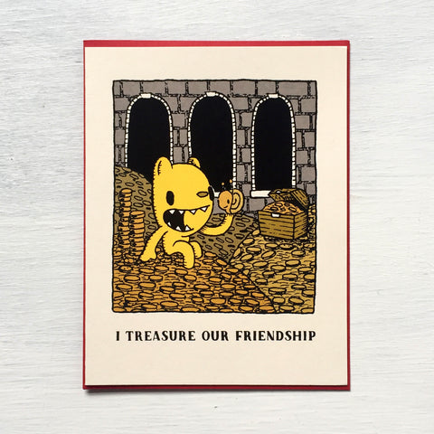 i treasure our friendship card