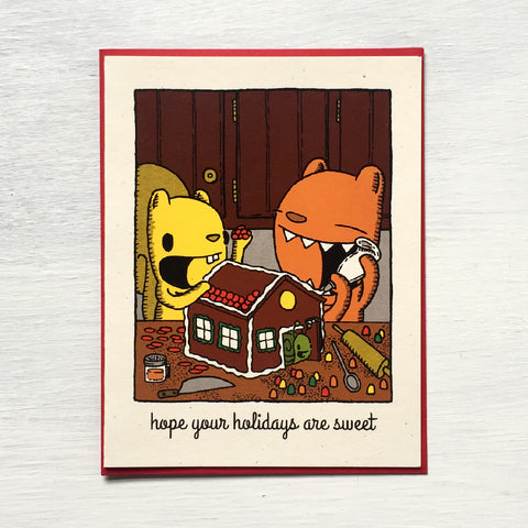 gingerbread house holiday card