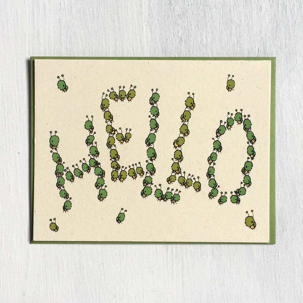 hello bugs greeting card