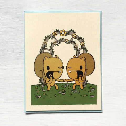 squirrel wedding card