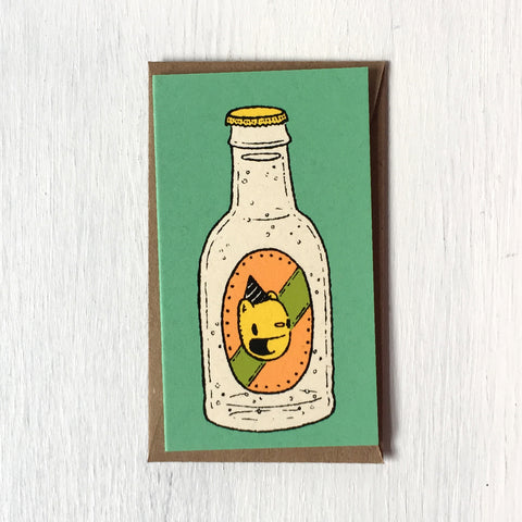 birthday bottle mini card
