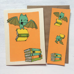 bat bookmark card