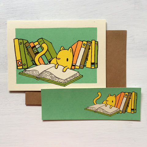 cat bookmark card