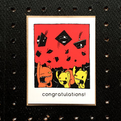hats off congratulations graduation card