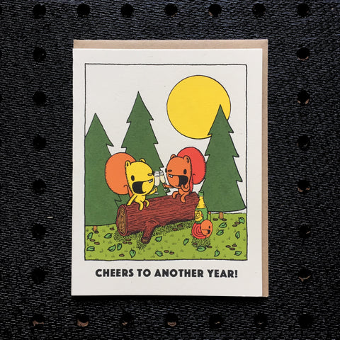 cheers to another year anniversary card